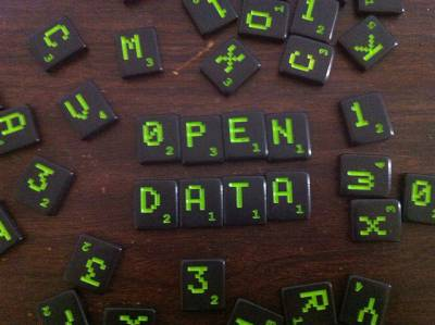 'open data (scrabble)' by justgrimes on Flickr