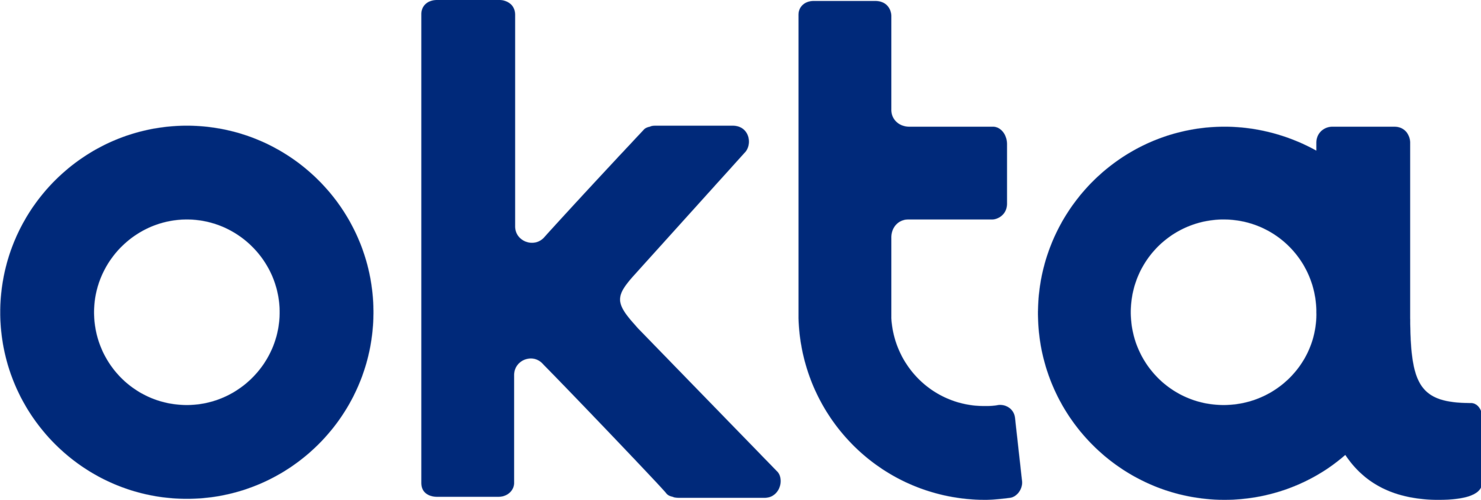 Okta Logo in Blue